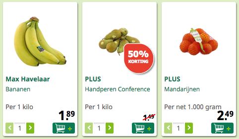 Fruit aanbiedingen PLUS