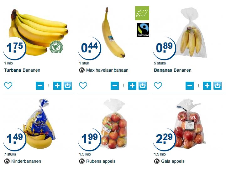 fruit aanbiedingen hoogvliet