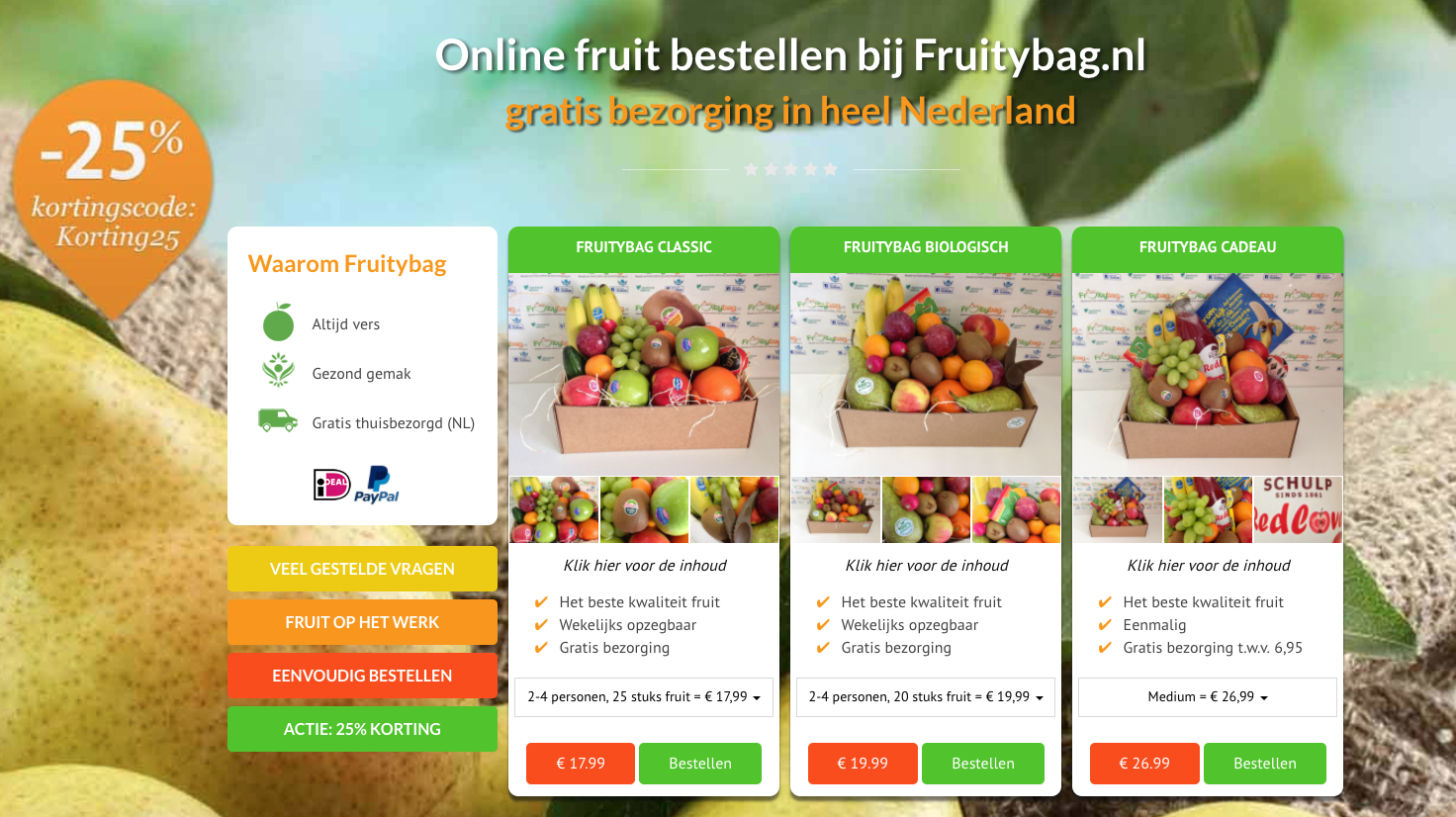 fruitybag website